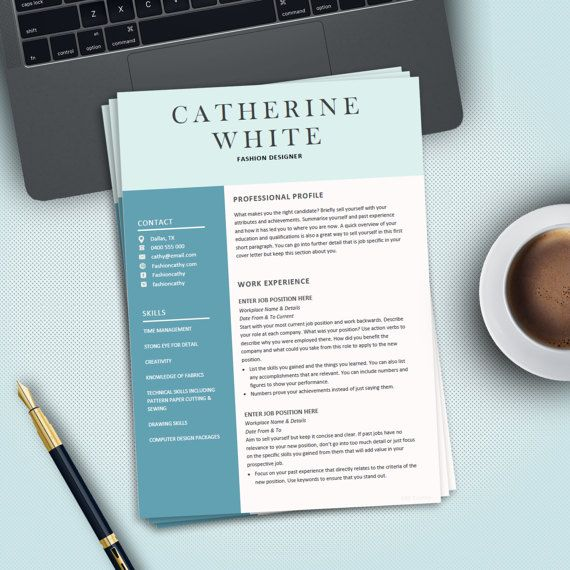 Professional Creative Resume Template for MS Word Modern