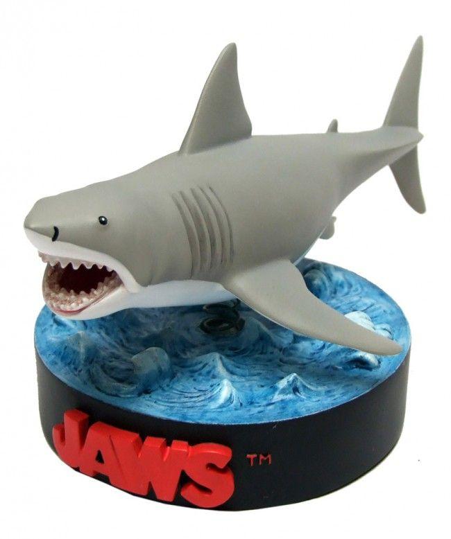 Der Weisse Hai Deluxe Bruce Wackelkopf Figur Shakems 19 Cm Weisse Haie Weisser Hai Hai