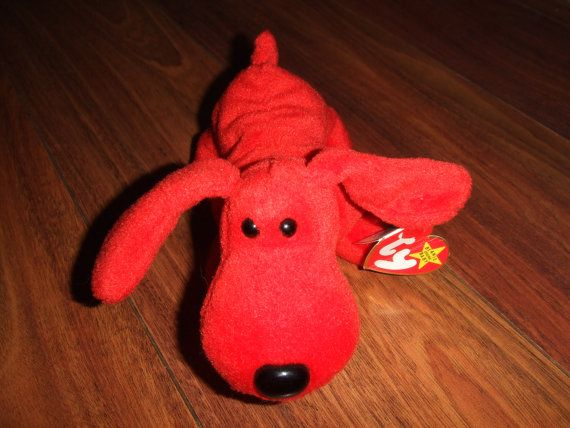 7 inch 1996 TY Beanie Babies ROVER The Red Dog w//tags Free Shipping