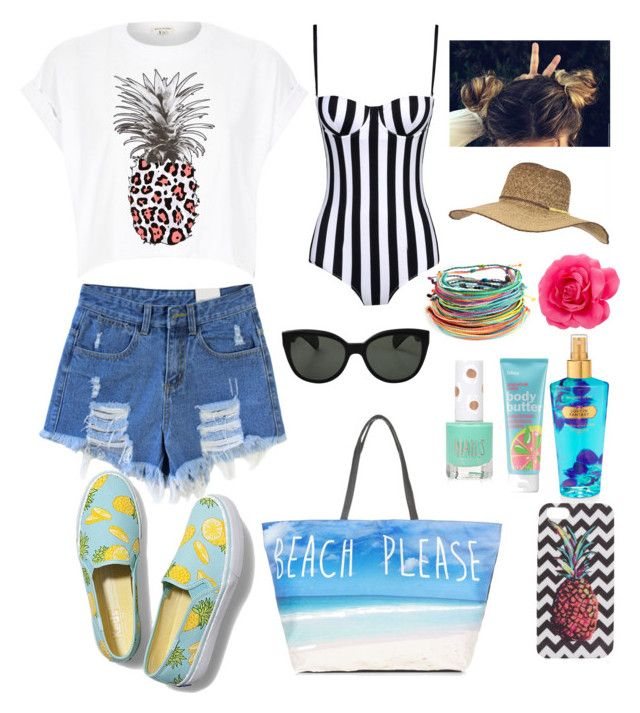 """""""#BeachPlease"""" by ellen2104 ❤ liked on Polyvore featuring Keds, River Island, Oliver Peoples, Dolce&Gabbana, Bliss, Billabong and Topshop"""