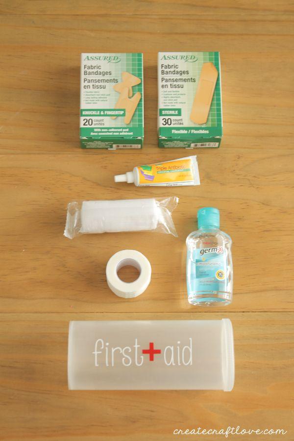 Diy First Aid Kit Diy First Aid Kit Mini First Aid Kit Camping First Aid Kit