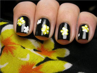 Polish Etc Flower Nails Simple Nail Art Designs Nails