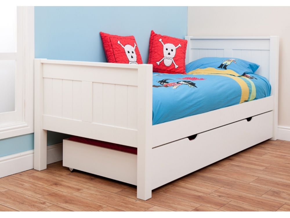 Stompa Classic Kids White Single Bed Kids Beds from FADS