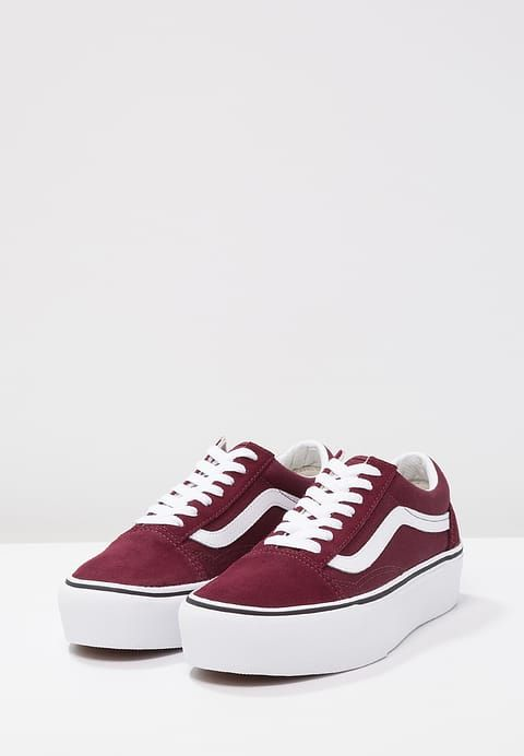 OLD SKOOL PLATFORM - Sneakers laag - port royale/true white @ Zalando.nl  <h2>OLD SKOOL PLATFORM Sneakers laag port royale/true white &#124; Vans</h2> <a id=