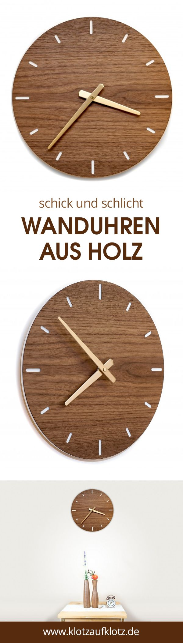Wanduhr Nussbaum Rund Wanduhr Holz Wanduhr Wohnzimmeruhren