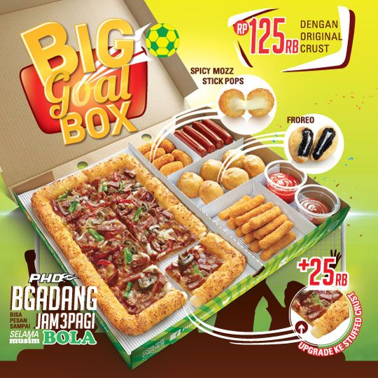 Big Goal Box Promo Pizza Hut Delivery Pizza Hut Delivery Pizza Hut Pizza Poster
