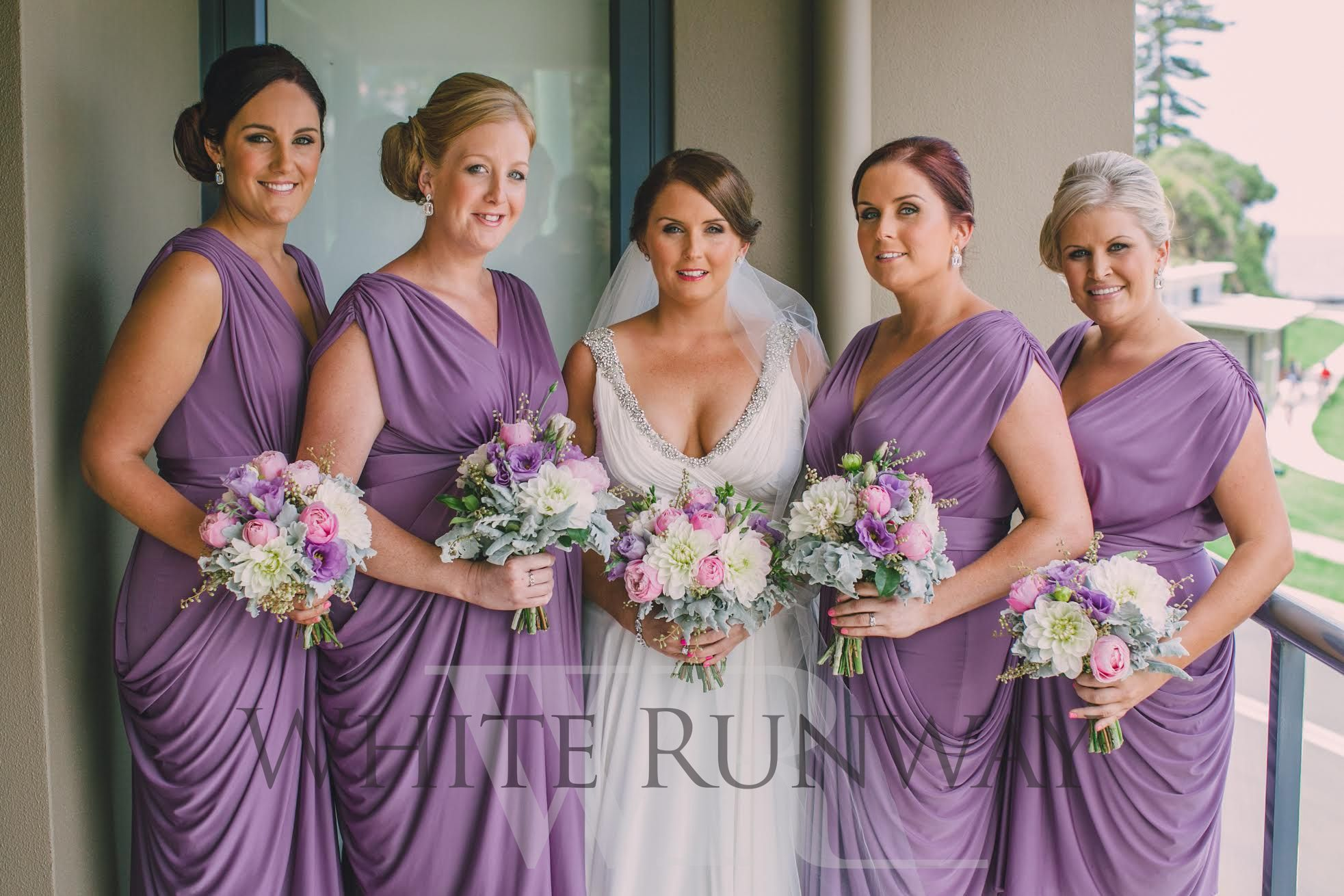 Rowena with her stunning bridesmaids wearing the Sienna Dress by Pia ...
