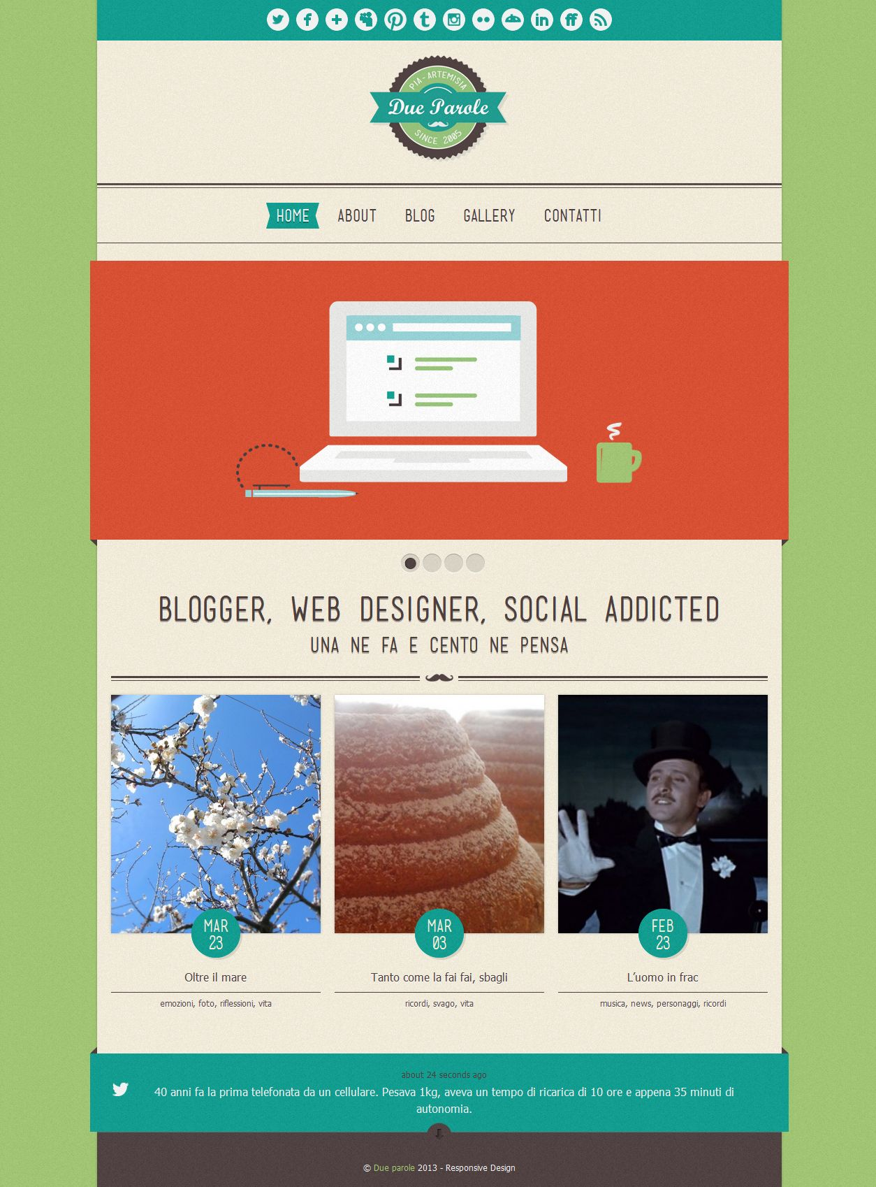 A vintage theme with Responsive Design #webdesign #web #design #responsive #layout #blog