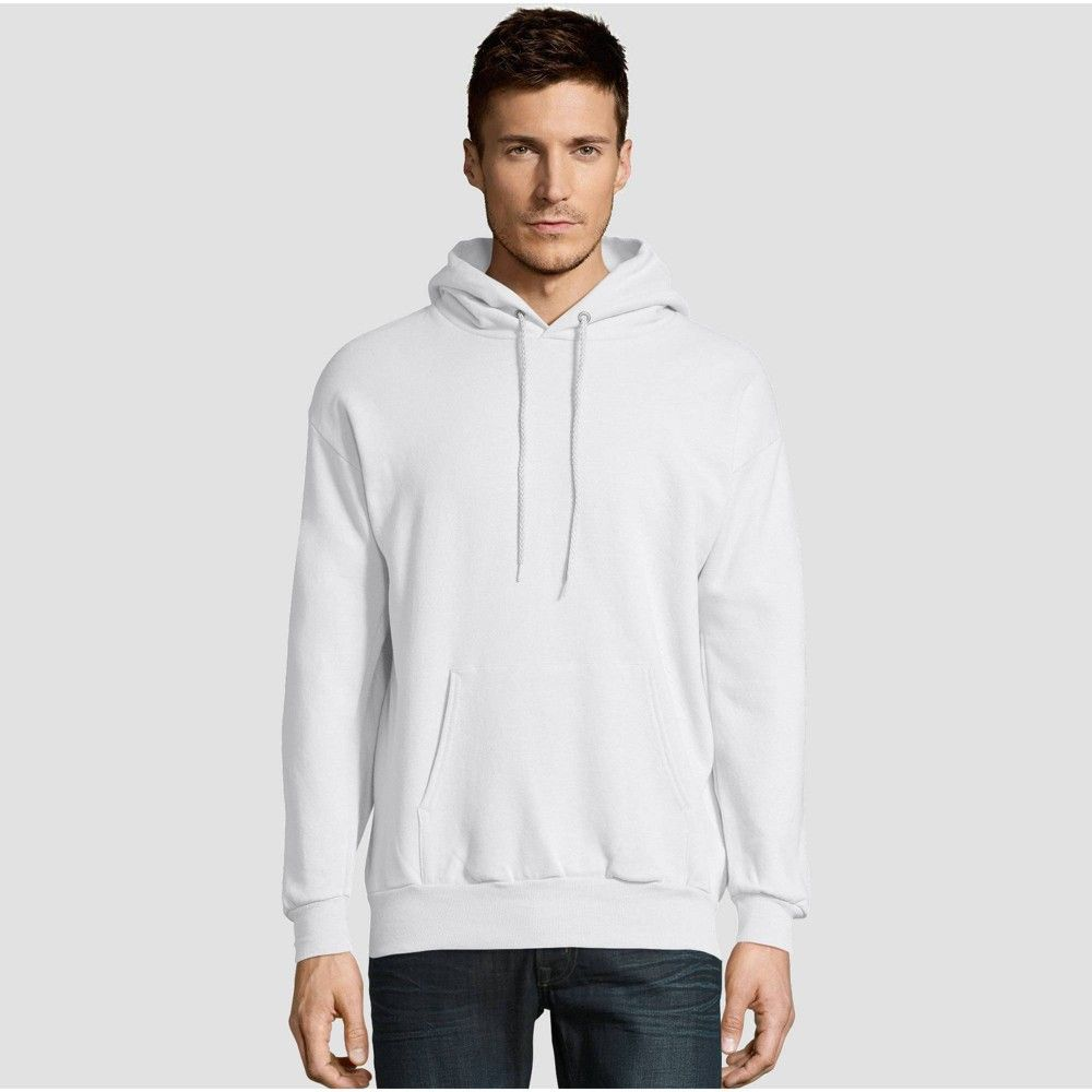 Hanes Men S Ecosmart Fleece Pullover Hooded Sweatshirt White S Mens Fleece Hoodie Hoodies Hooded Sweatshirts [ 1000 x 1000 Pixel ]