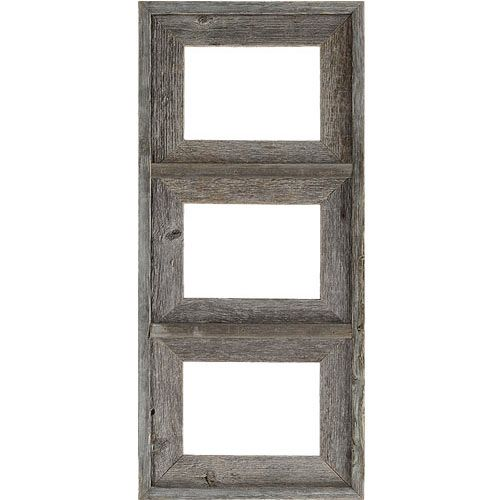 driftwood gray collage frame with three 5x7 inch openings