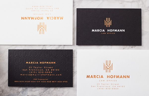 Logo and branding for marcia hofmann law firm in san francisco business cards logo and branding for marcia hofmann law firm in san francisco printing by clove st colourmoves Image collections
