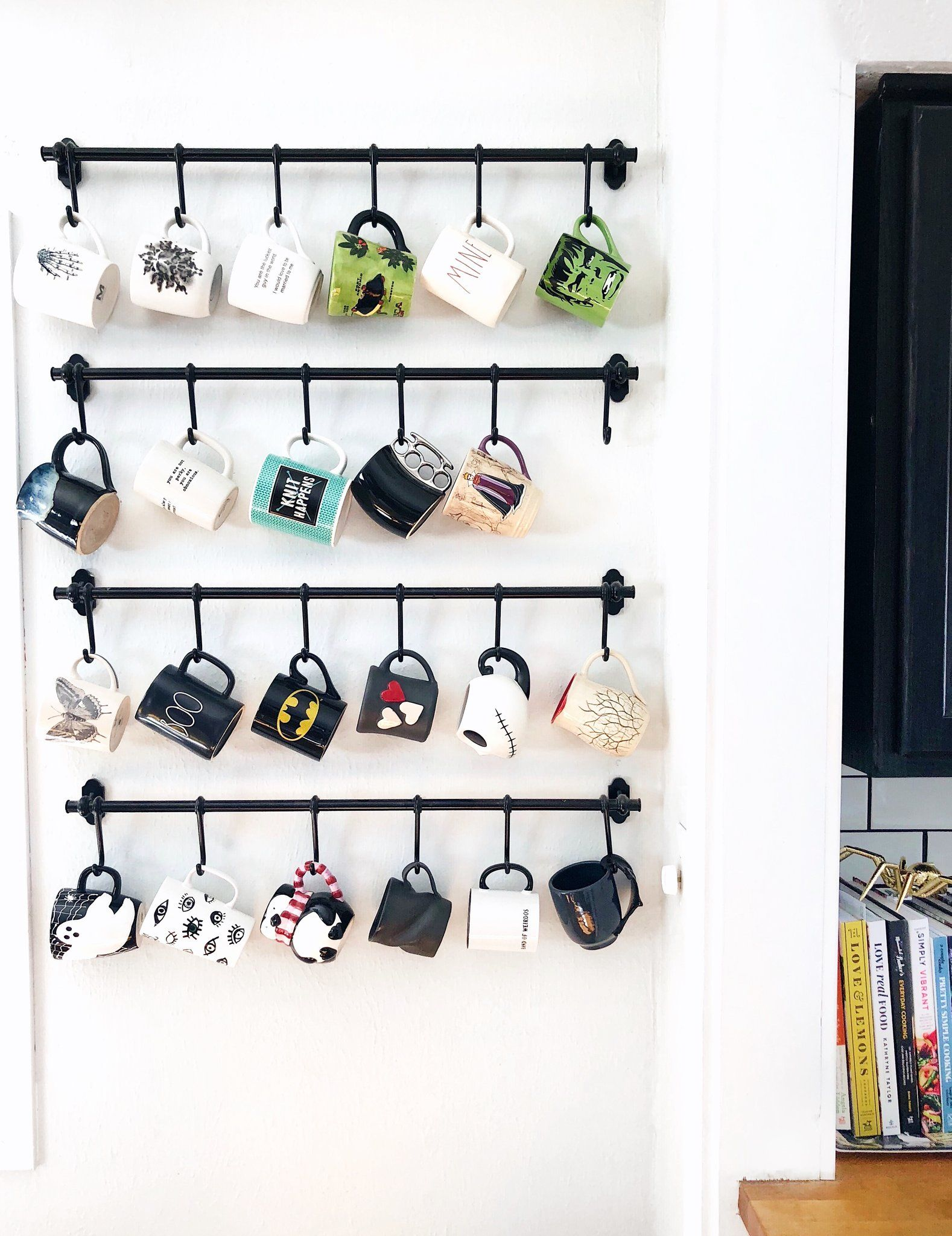 Display What You Love! DIY Coffee Mug Wall Rack