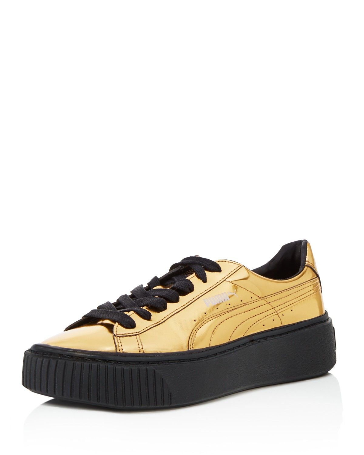 PUMA Women's Shoes - PUMA Women Basket Metallic Platform Lace Up Sneakers -  Find deals and best selling products for PUMA Shoes for Women