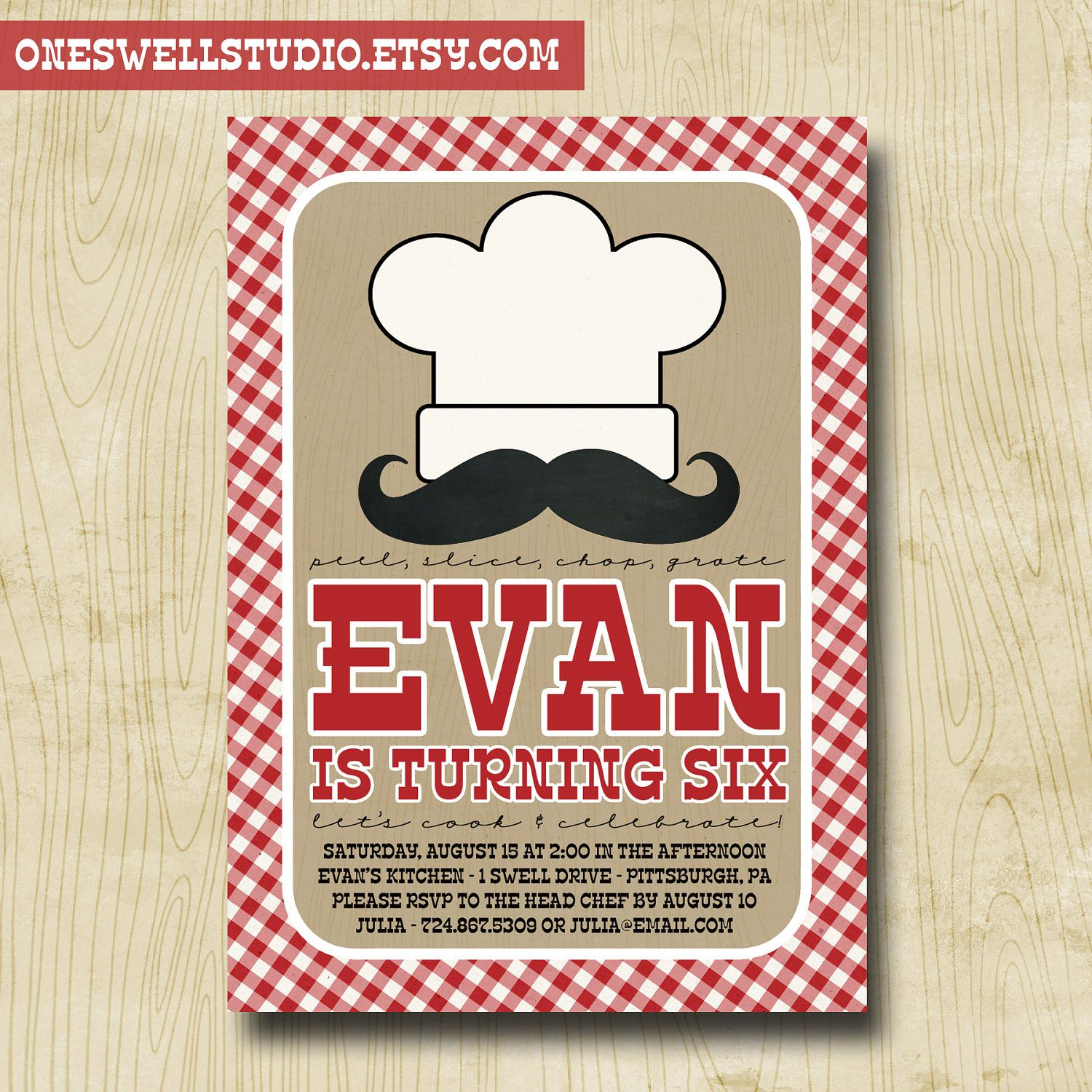 Little Chef Cooking Baking Party DIY Printable Birthday Party – Cooking Birthday Party Invitations