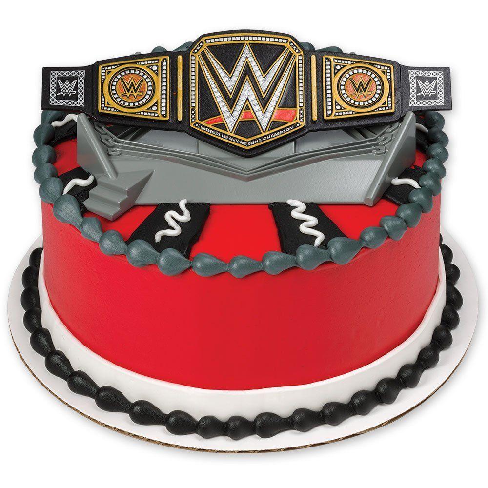Decopac wwe championship ring decoset cake topper wwe