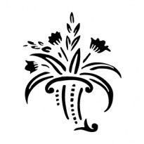 Szablony Z Tworzywa Flora Kwiaty Motywy Roslinne Szabloneria Pl Szablony Malarskie I Naklejki Na Sciane Producent Art Tattoo Home Decor Decals Art