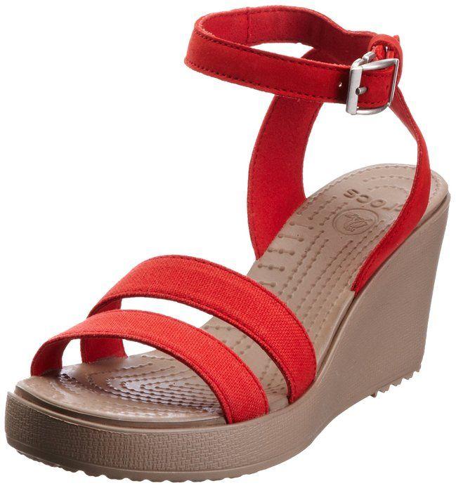 e44d72e8621c Amazon.com  Crocs Women s Leigh Wedge Sandal