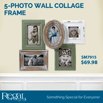 5-PHOTO WALL COLLAGE FRAME from Regal Gifts Elegant and rustic. This ...