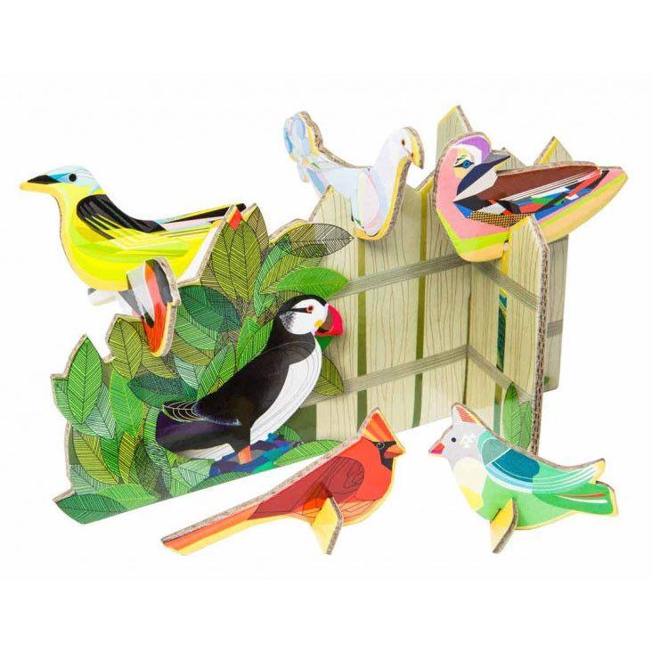 Birds Tweeting pop-out card