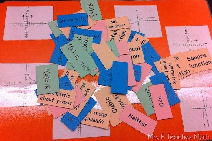 parent function matching worksheet