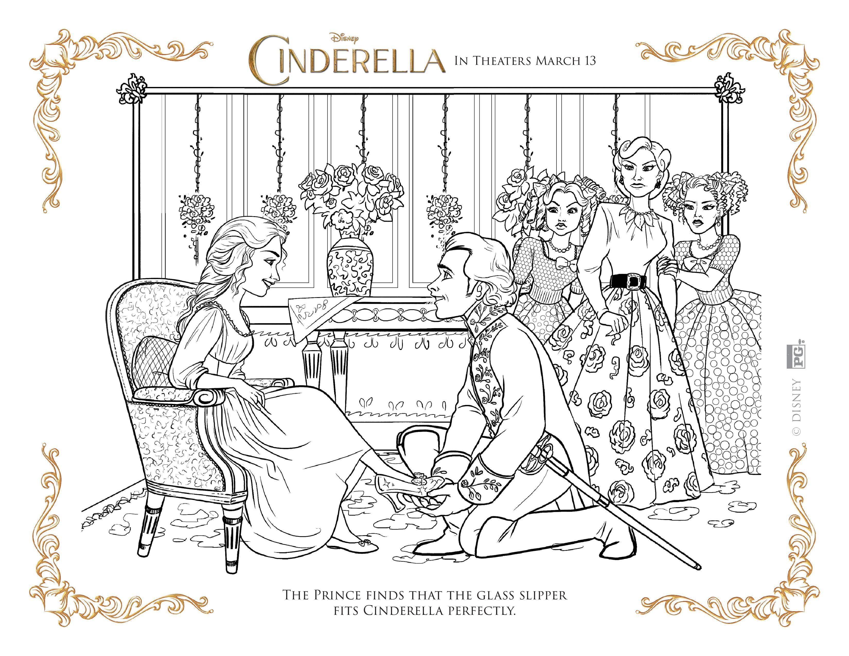 Ausmalbilder Cinderella Disney : Walt Disney39s Cinderella Book Cinderella Book And Disney S