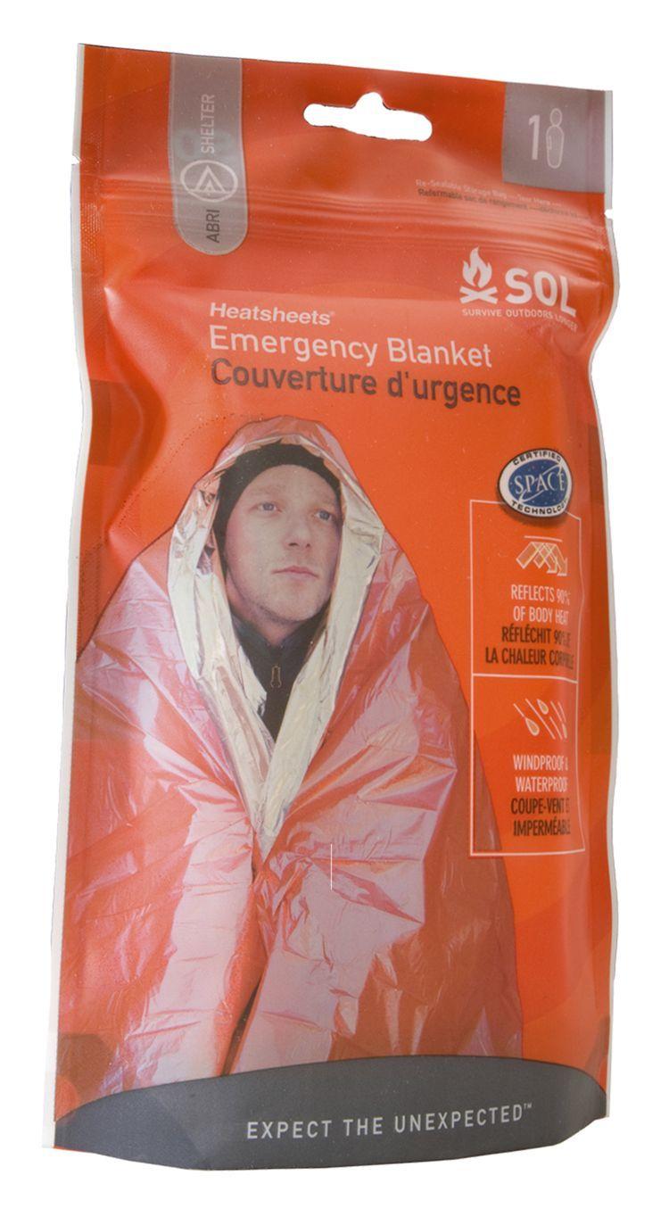 Heatsheets® Adventure Medical Kits S.O.L. One Person Emergency Blanket | Bass Pro Shops #heatsheets #emergencyblanket #survivalgear #madeintheUSA