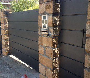 Puertas exteriores metalicas pinteres for Puertas de fierro para casas exterior