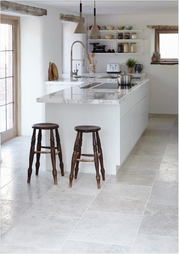 Pin By Ted On Kitchen Kitchen Flooring Grey Kitchen Tiles Grey Tile Kitchen Floor