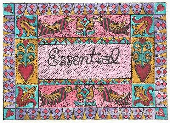ESSENTIAL Word Inspiration Fraktur Aceo Word by THEODORADESIGNS, $5.00