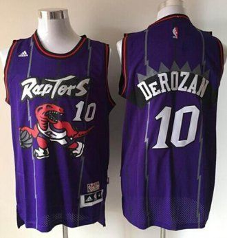 premium selection fdbde 59bf9 Toronto Raptors #10 DeMar DeRozan Purple Hardwood Classics ...