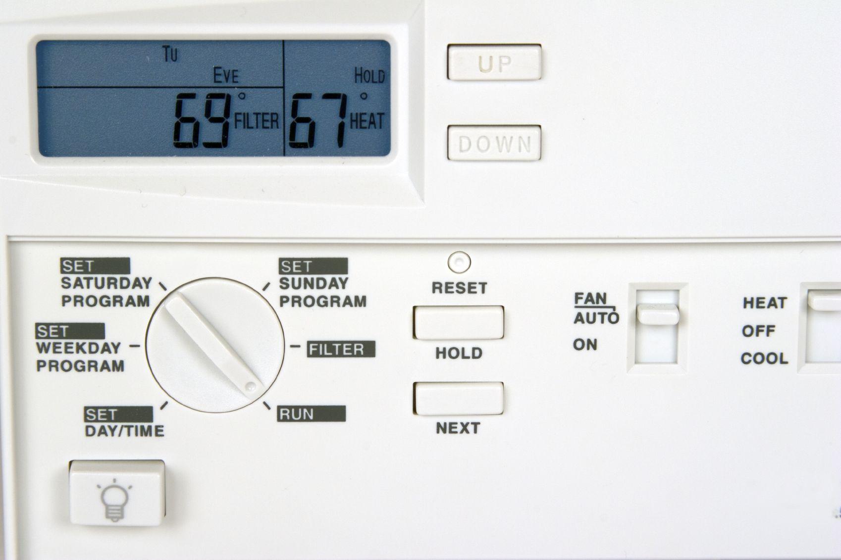 iStock_000000399100Medium Programmable thermostat, Home