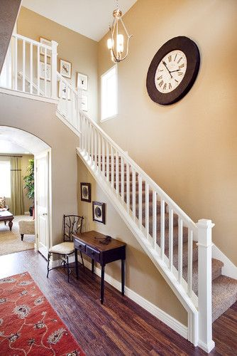 Best Traditional Home White Stair Railing Design Pictures 400 x 300