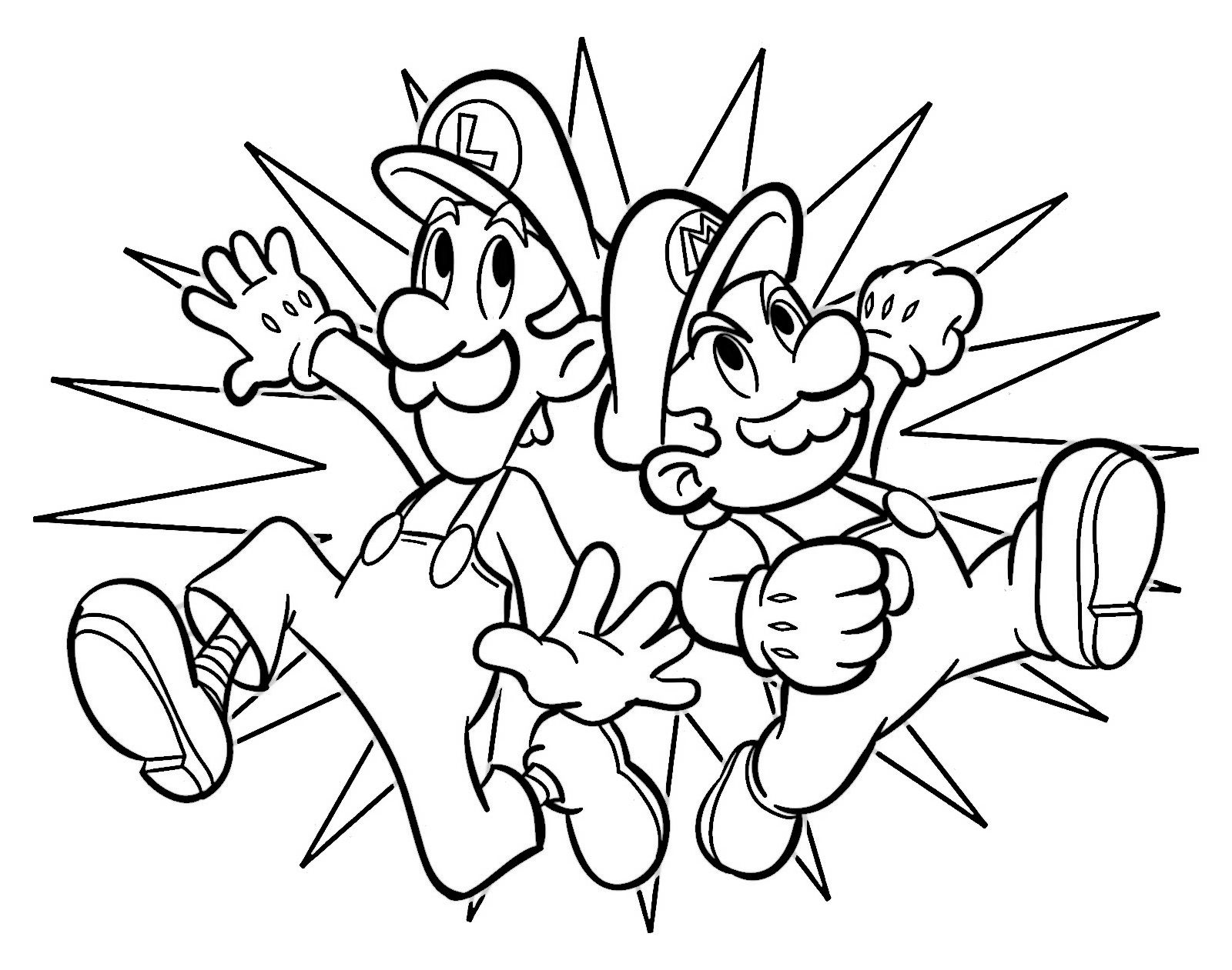 Dibujos para Colorear Mario Bross 4 | Dibujos para colorear para ...