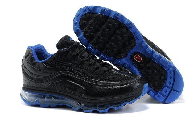 more photos 72d45 ad1b4 397252 003 Nike Air Max 24-7 Black Black Lyon Blue AMFM0551