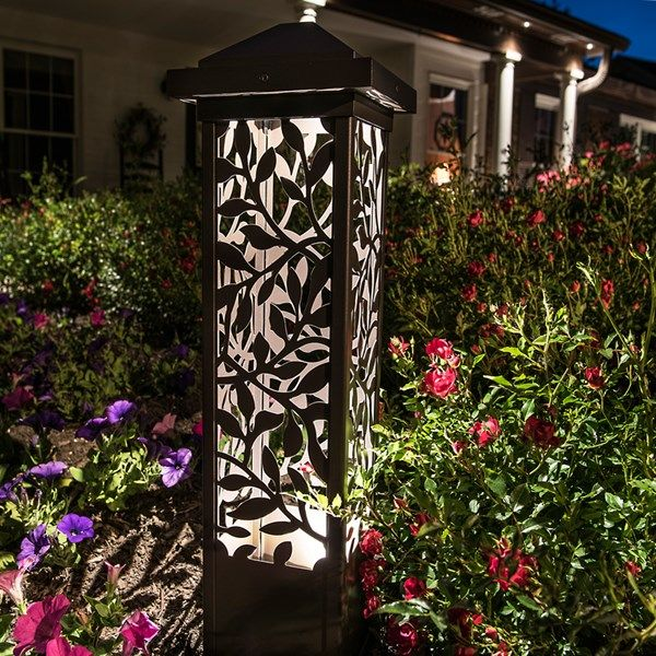 Volt 26 Leaf Tower Bollard Light 4 Lead Wire Aluminum Bronze Outdoor Lighting Design Outdoor Landscape Lighting Outdoor Lighting