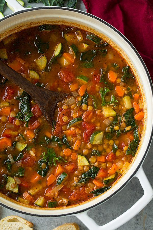 Italian Vegetable Lentil Soup - Cooking Classy   Diet in 2019   Veggie lentil soup, Lentil ...