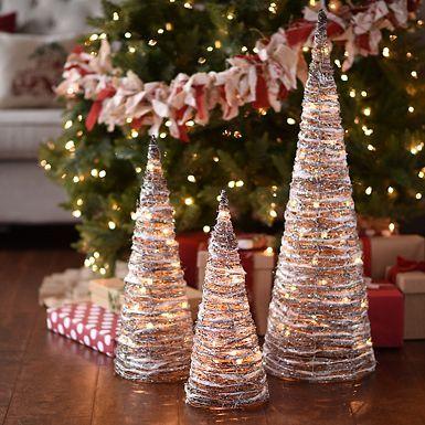 3 Pre Lit Christmas Tree.Product Details Pre Lit Joy Sign Set Of 3 Christmas Decor