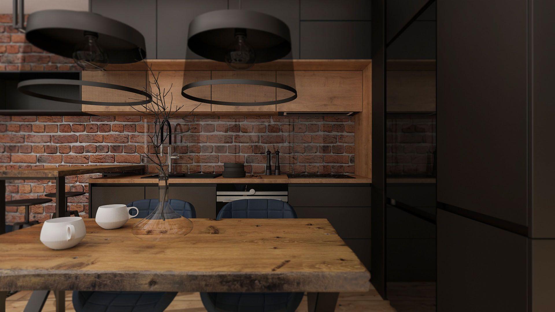 Nowoczesna Kuchnia Z Ciemnymi Meblami Kitchen Design House Interior Home Decor