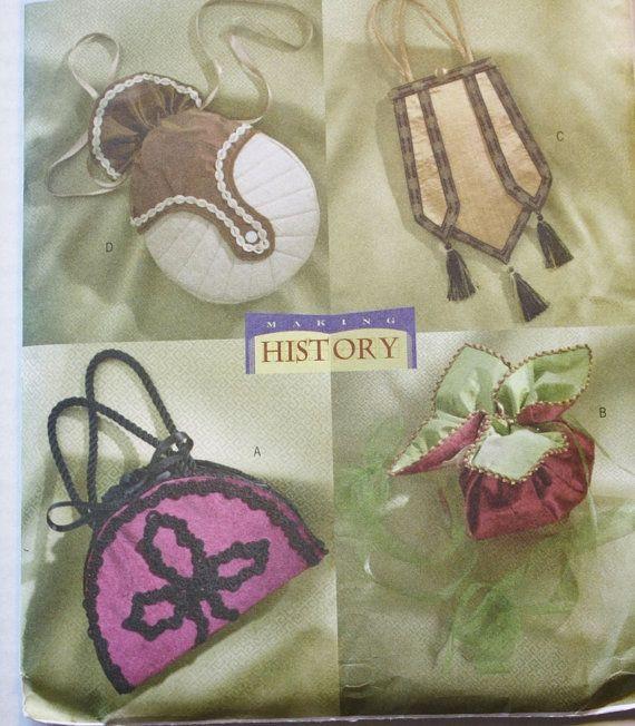 Handbags Circa 1890 1910 Victorian Making History Downtown Abbey Style Erick B4411 Sewing Pattern