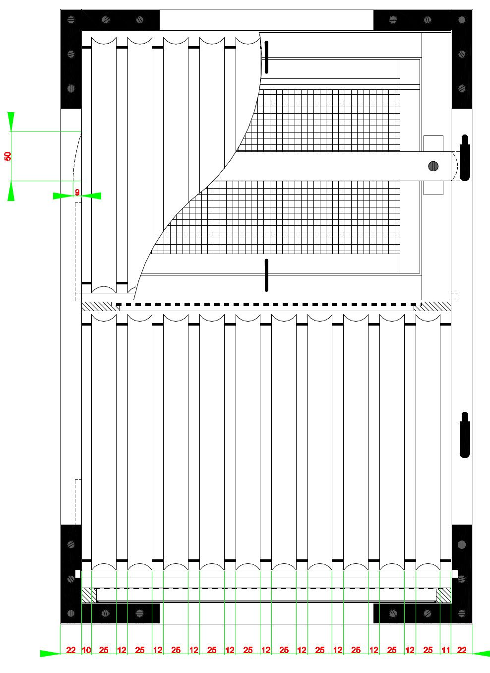 Slovenian AZ beehive plans Side View Side view Back view Front view ...