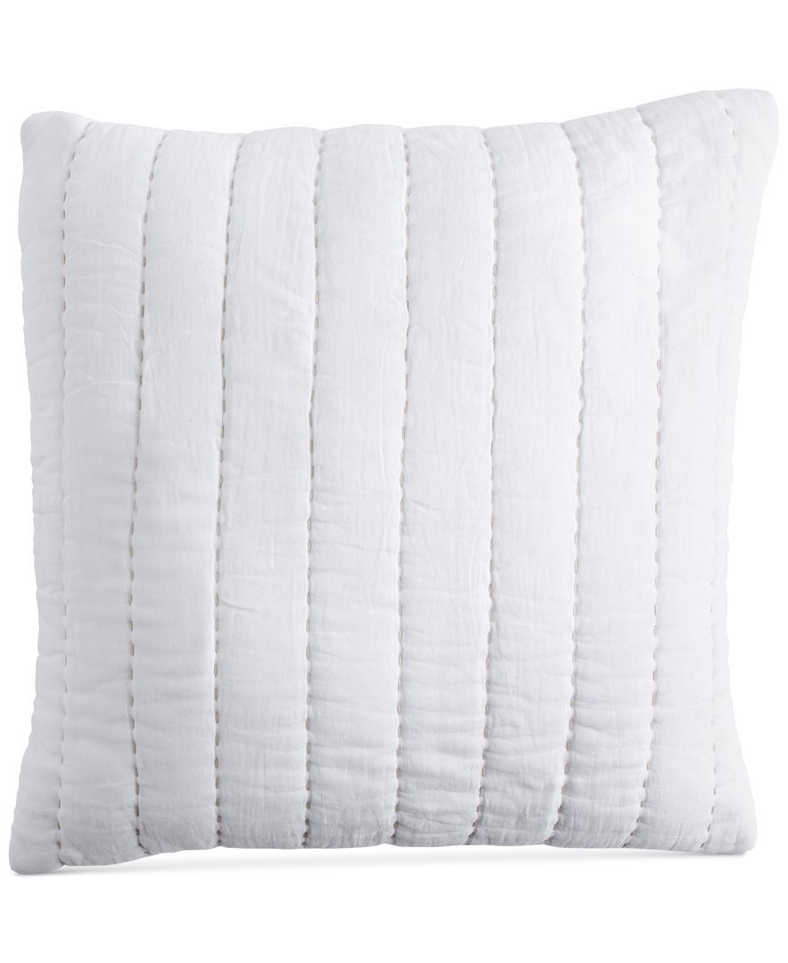 """DKNY PURE Quilted Voile 16"""" Square Decorative Pillow 