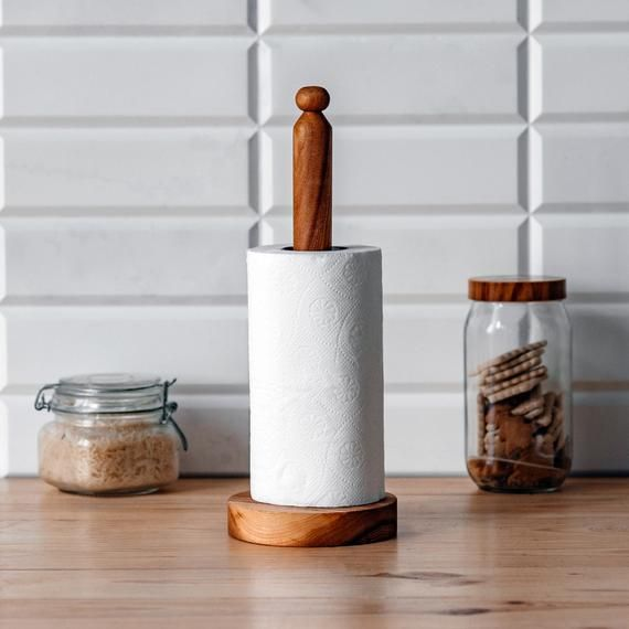 Wooden paper towel holder. #papertowelholders Wooden paper towel holder. #papertowelholders