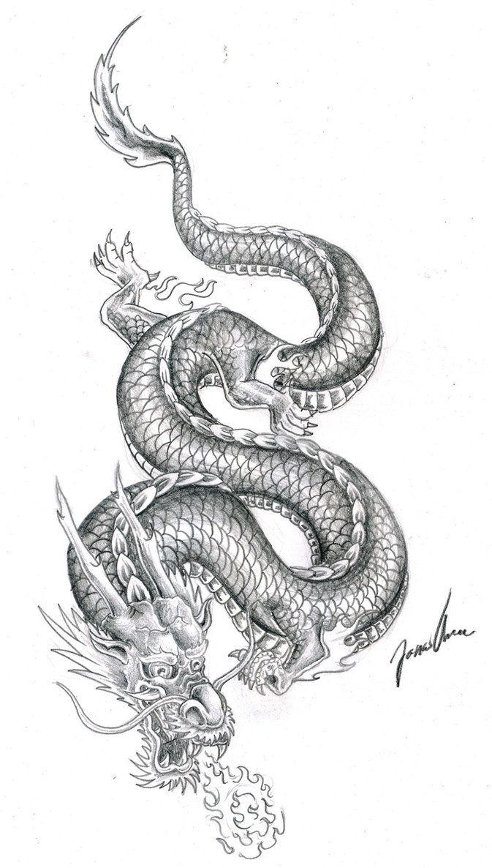 Dragon drawings tattoo design chinese dragon tattoos tattoo art