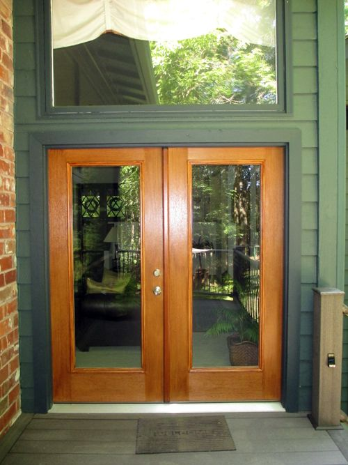 Therma Tru Fiber Clic Mahogany French Doors With Full View Gl