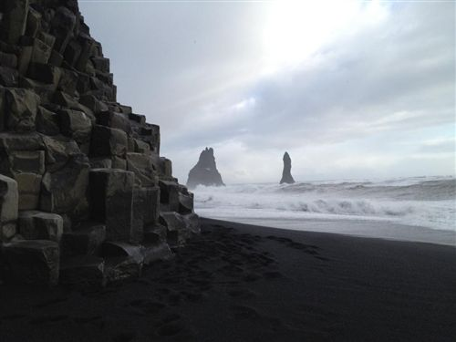 To get me some sand from the black sand beach, Vik, Iceland.