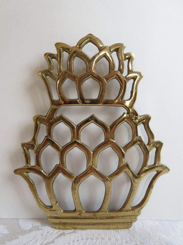 Pinele Trivet Gold Metal Br Kitchen Accessory Home Decor