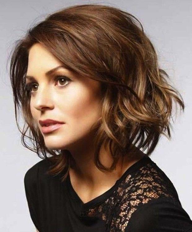 Melena corto ligeramente ondulado 2015 cortes hair - Corte de melena corta ...