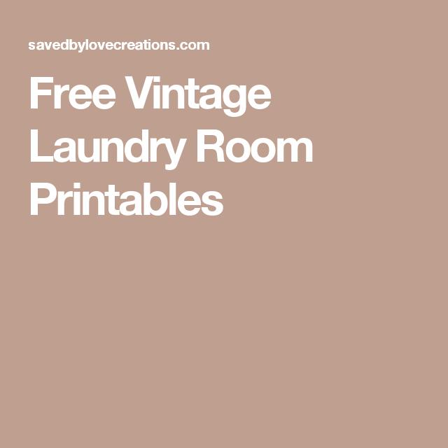 Free Vintage Laundry Room Printables | Printables | Laundry