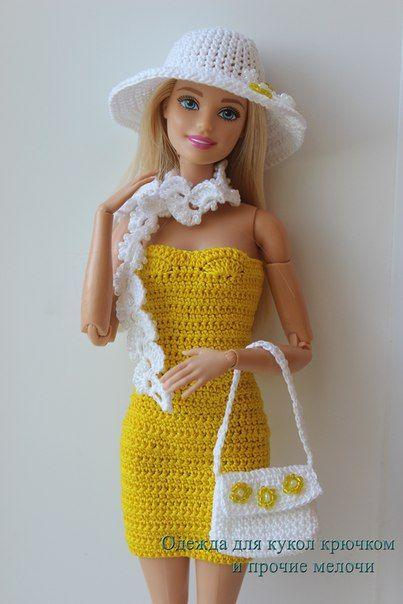 Одежда для кукол крючком и прочие мелочи | roupinha de boneca ...
