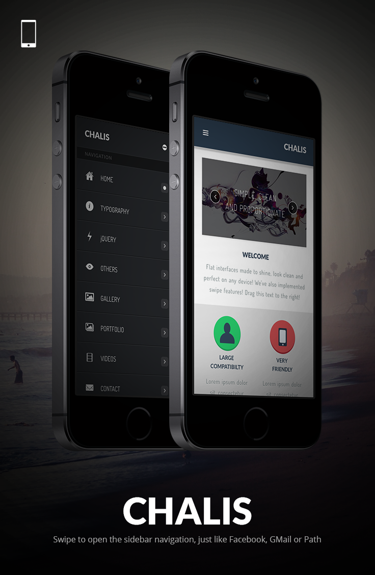 Chalis Mobile | Mobile Template